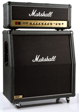 Marshall JCM 2000 - DSL100 guitar amp head and 1960A (slanted) 4x12 cab
